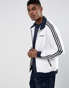 Белая спортивная куртка adidas Originals Beckenbauer BR4222 - Белый