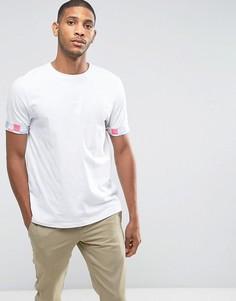 Свободная футболка с отворотами в пастельную решетчатую клетку ASOS - Белый