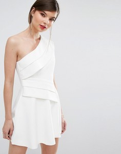 Платье мини на одно плечо C/Meo Collective - Белый