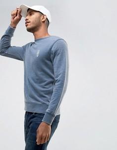 Свитшот с вышивкой на груди Jack & Jones Originals - Синий