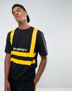 Черная футболка с принтом Granted - Черный