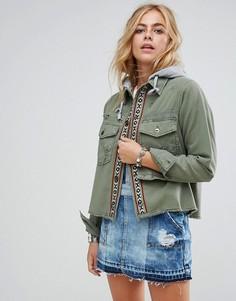 Куртка-карго Free People Weekend Wanderer - Зеленый