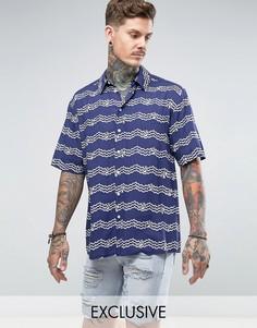 Фестивальная рубашка классического кроя Reclaimed Vintage Inspired - Синий