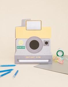 Поздравительная открытка на день рождения в виде фотокамеры Meri Meri - Мульти