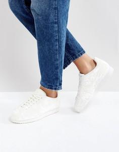 Белые кроссовки Nike Velvet Cortez - Белый