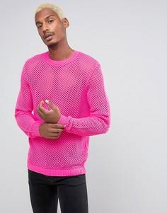 Розовый сетчатый джемпер ASOS - Розовый