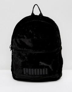 Черный рюкзак из искусственного меха Puma - Черный