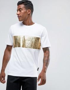 Белая футболка с золотистой вставкой Jaded London - Белый