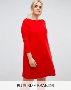 Свободное платье из крепа Club L Plus - Красный