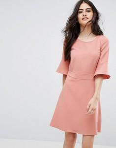 Платье с рукавами-клеш Vila - Розовый