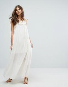 Платье макси с ажурной вставкой Moon River - Белый