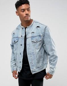 Джинсовая куртка SikSilk - Синий