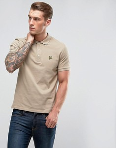 Светло-серая футболка-поло Lyle & Scott - Светло-серый