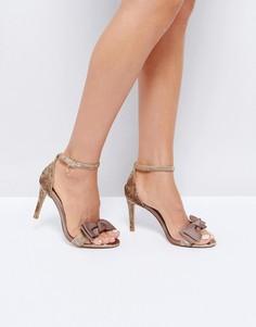 Туфли из бархата на каблуке Dune - Розовый