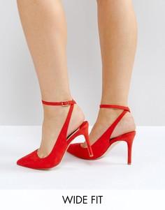 Красные туфли на каблуке для широкой стопы Faith Canyon - Красный