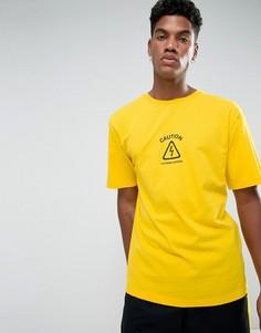 Желтая футболка с принтом Granted - Желтый