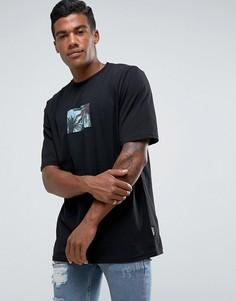Черная футболка с тропическим принтом Jaded London - Черный