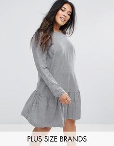 Свободное платье в клетку Junarose - Мульти