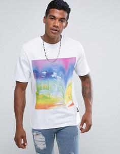 Белая футболка с принтом Jaded London - Белый