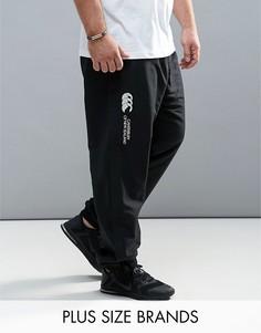 Черные спортивные брюки с манжетами Canterbury PLUS Stadium E512607-989 - Черный