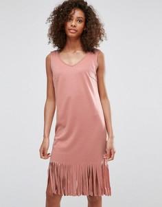 Платье с бахромой Vila - Черный