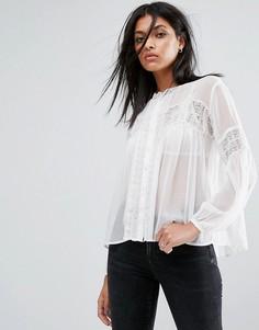 Прозрачная рубашка AllSaints Pinto - Белый