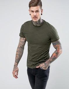 Полосатая футболка Brave Soul - Зеленый
