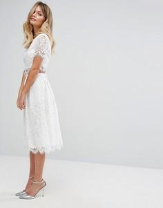 Кружевная юбка для выпускного New Look Co-Ord - Белый