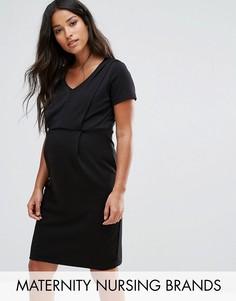 Трикотажное платье Mamalicious Nursing - Черный Mama.Licious