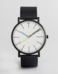 Часы с черным сетчатым ремешком Skagen SKW6376 - Черный