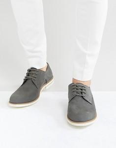 Серые замшевые туфли-дерби Dune - Серый