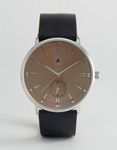 Часы с черным кожаным ремешком ASOS - Черный