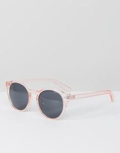 Розовые круглые солнцезащитные очки ASOS - Розовый