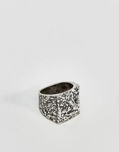 Кольцо с треугольным дизайном ASOS - Серебряный