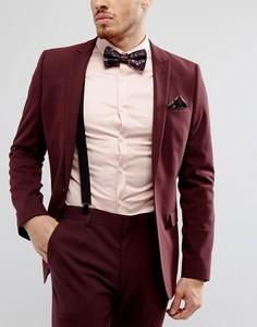 Комплект из галстука-бабочки, платка для нагрудного кармана и подтяжек ASOS - Черный