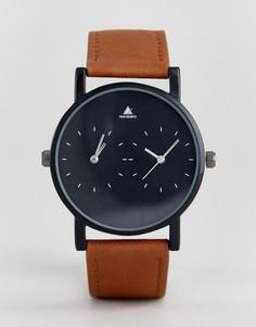 Часы со светло-коричневым ремешком из искусственной кожи и контрастным циферблатом ASOS - Рыжий