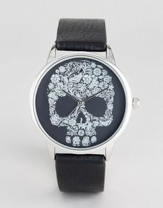 Монохромные часы с черепом ASOS - Черный