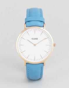 Часы с синим кожаным ремешком CLUSE La Boheme - Синий