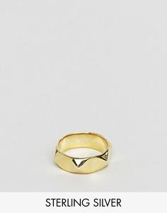 Кольцо из позолоченного серебра ASOS - Серебряный