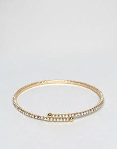 Браслет-манжета с камнями ASOS - Золотой