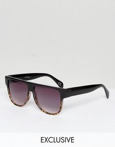 Солнцезащитные очки-маска с прямым верхом и градиентными стеклами Jeepers Peepers - Черный