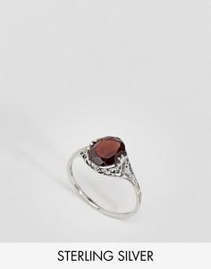 Серебряное кольцо с красным турмалином Regal Rose Bleeding Love - Серебряный