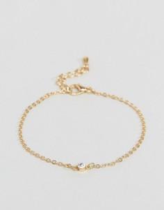 Тонкий браслет-цепочка с камнями ASOS - Золотой