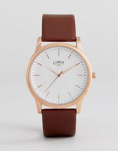 Часы с коричневым кожаным ремешком Limit эксклюзивно для ASOS - Коричневый