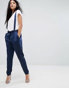 Широкие брюки со складками Minimum - Темно-синий