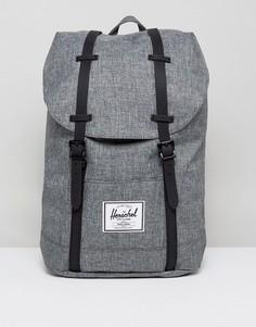 Рюкзак из фактурной ткани Herschel Supply Co. Retreat - 19,5 л - Серый