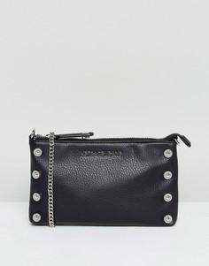 Клатч с отделкой заклепками Versace Jeans - Черный