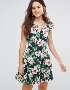 Платье с цветочным принтом Louche Gael - Темно-синий