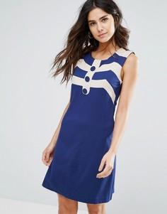 Платье-трапеция Louche Mary - Темно-синий