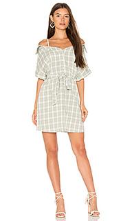 Gingham off shoulder shirt dress - MINKPINK